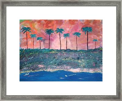 Sunset Framed Print by Van Winslow