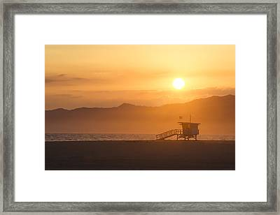 Sunset Venice Beach  Framed Print