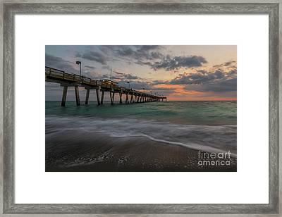 Sunset Venice Pier Framed Print