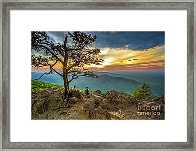 Sunset View At Ravens Roost Framed Print