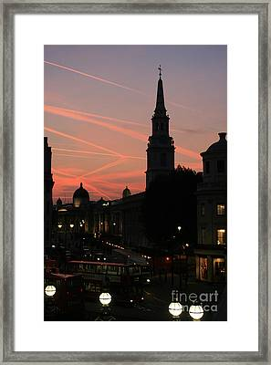 Framed Print featuring the photograph Sunset View From Charing Cross  by Paula Guttilla