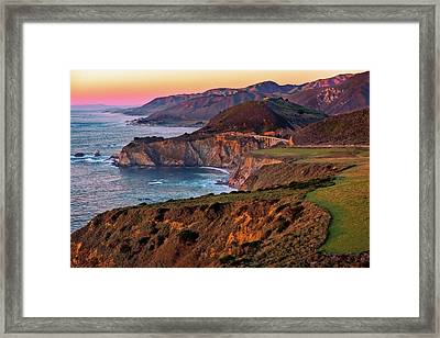 Sunset View From Hurricane Point Framed Print