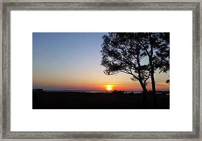 Sunset View From Knights Of Columbus' Deck Framed Print