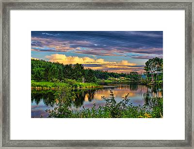Framed Print featuring the photograph Sunset View by Gary Smith