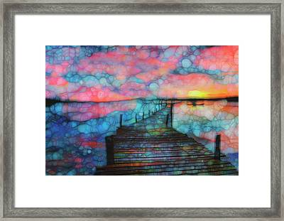 Sunset View Framed Print by Jack Zulli