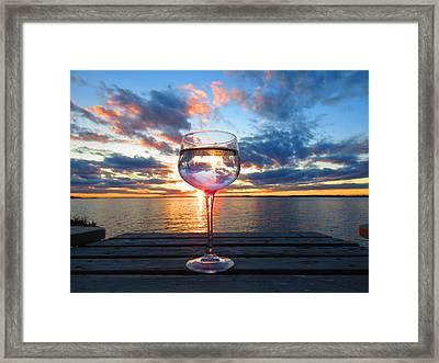 June Sunset On The River Framed Print
