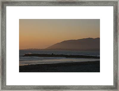 Sunset View Over The Pacific Ocean Framed Print by Stacy Gold