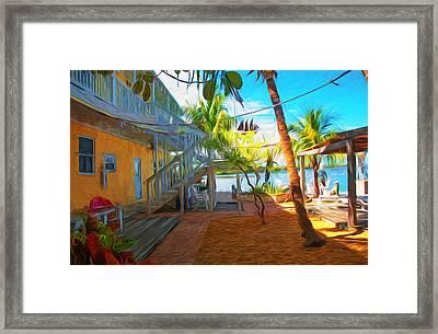 Sunset Villas Patio Framed Print