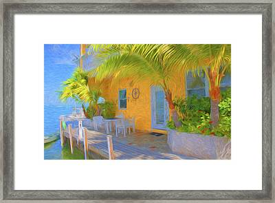 Sunset Villas Waterfront Apartment Framed Print