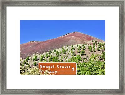 Sunset Crater Volcano Framed Print