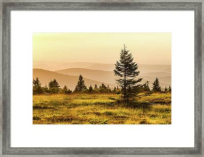 Sunset - Vosges Mountains Framed Print by Paul MAURICE
