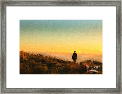 Sunset Walk Framed Print by Chris Armytage