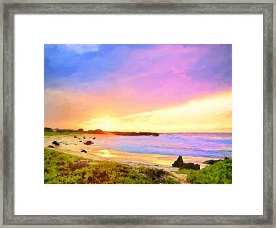 Sunset Walk Framed Print by Dominic Piperata