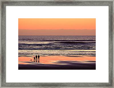 Sunset Walk Framed Print by Todd Klassy