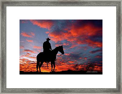 Sunset Watchman Framed Print