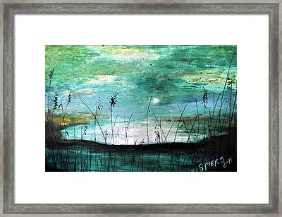 Sunset Water Sold Framed Print by Amanda  Sanford