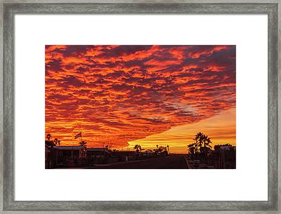 Sunset Wave Framed Print by Robert Bales