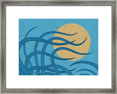 Sunset Waves Framed Print by Frank Tschakert