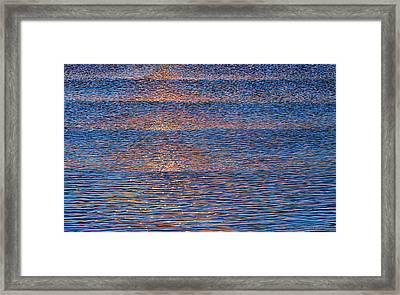 Sunset Waves Framed Print