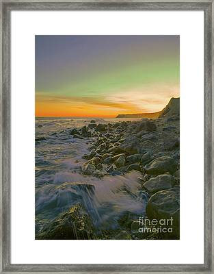 Sunset Waves Framed Print by Todd Breitling