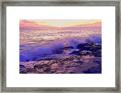 Sunset, West Oahu Framed Print by Susan Lafleur