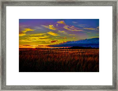 Framed Print featuring the photograph Sunset Wheat by Gary Smith