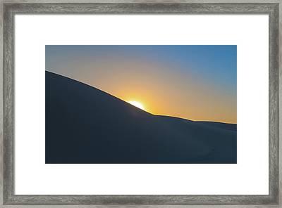 Sunset - White Sands Framed Print by Joseph Smith