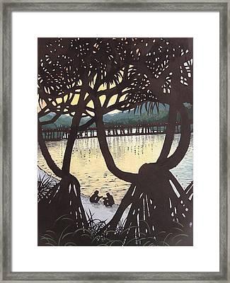 Sunset Windows Framed Print by Serena Valerie Dolinska