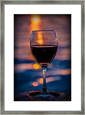 Sunset Wine Framed Print