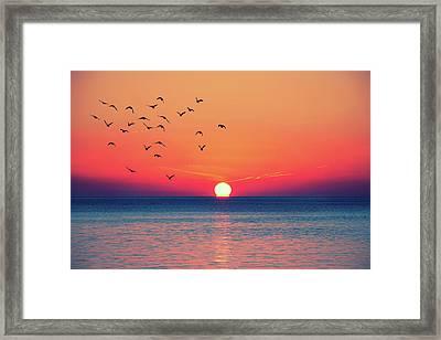 Sunset Wishes Framed Print