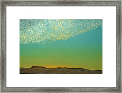 Sunset With Alto Cumulous Framed Print