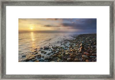 Sunset Zen Framed Print by Bill Wakeley