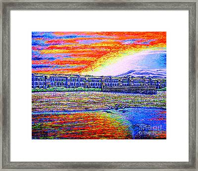 sunset,Jax beach Framed Print by Viktor Lazarev