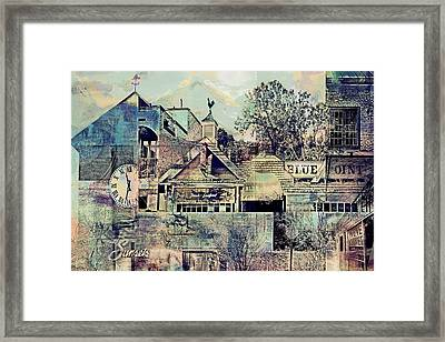 Framed Print featuring the digital art Sunsets And Blue Point Collage by Susan Stone