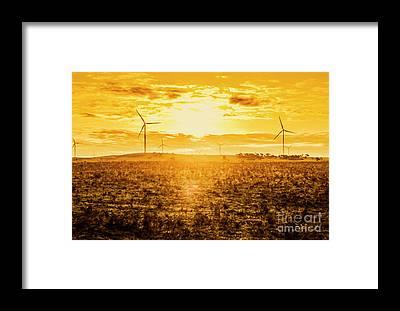 Electrical Field Framed Prints