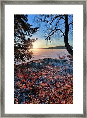 Sunsets Creates Magic Framed Print