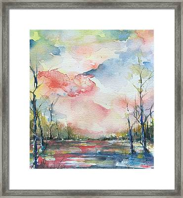 Sunsets Grace On The River Framed Print