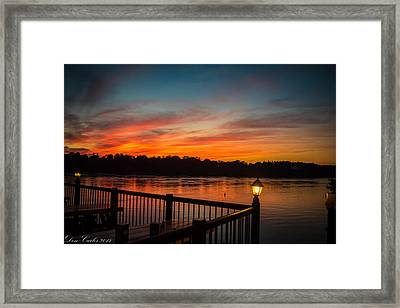 Sunsets In Lewiston Framed Print