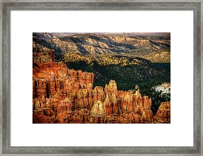 Framed Print featuring the photograph Sunsets In The Canyon by Rebecca Hiatt