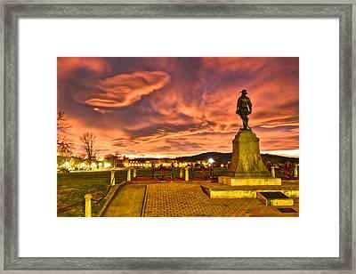 Sunset's Veil Framed Print
