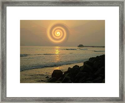 Sunsetswirl Framed Print