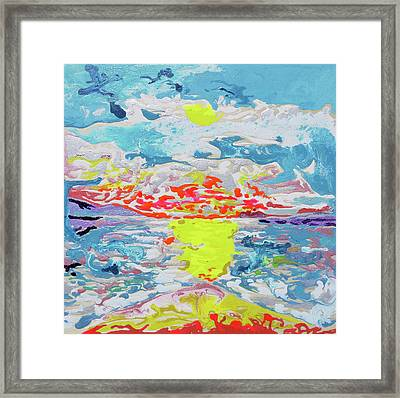 Sunsetting Big Beach Framed Print by Joseph Demaree