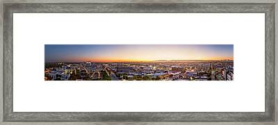 Glowing Sunset Culver City Framed Print by Kelley King