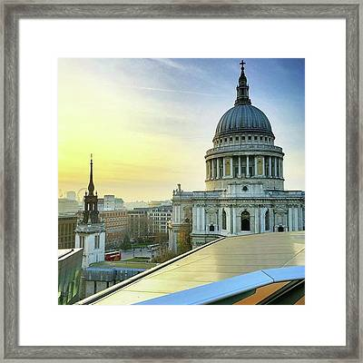 Sunsetting Over London, Love This Framed Print