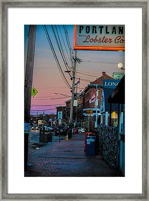 Sunsetting Over The Old Port Framed Print by Victory  Designs