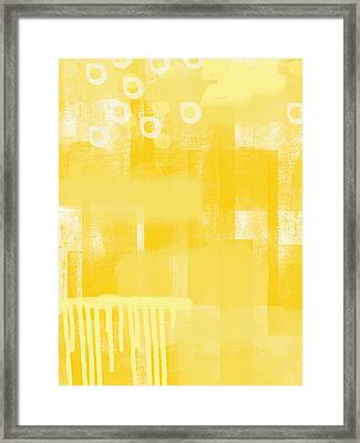 Sunshine- Abstract Art Framed Print by Linda Woods