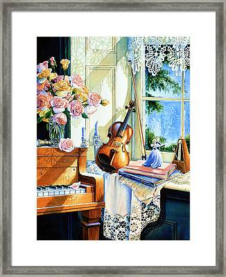 Sunshine And Happy Times Framed Print by Hanne Lore Koehler
