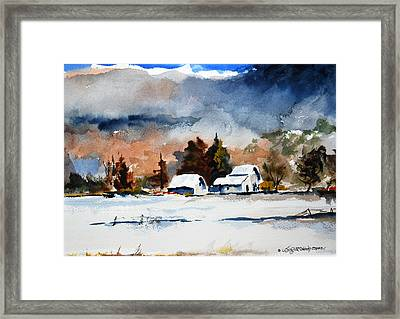 Sunshine And Shadows Framed Print by Wilfred McOstrich