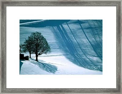 Sunshine And Shadows - Winterwonderland Framed Print by Susanne Van Hulst