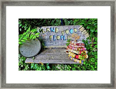 Framed Print featuring the painting Sunshine Bench by Joan Reese